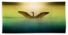 Phoenix Rising Beach Towel by Rob Blair