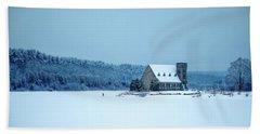 Photographer On Thin Ice Beach Sheet