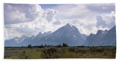 Photographing The Tetons Beach Towel by Dawn Romine