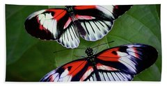 Piano Key Butterfly's Beach Towel