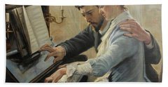 Piano Lesson Beach Towel