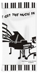 Piano Man Beach Towel