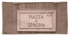 Piazza Di Spagna Beach Towel
