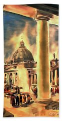 Piazza San Pietro In Roma Italy Beach Towel