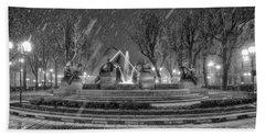 Piazza Solferino In Winter-1 Beach Towel by Sonny Marcyan