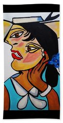 Yellow Hat Picasso Beach Towel