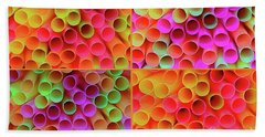 Beach Towel featuring the photograph Pick A Straw By Kaye Menner by Kaye Menner