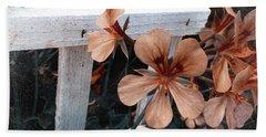 Picket Fence Blooms Beach Towel