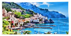 Picturesque Italy Series - Amalfi Beach Towel