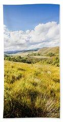 Picturesque Tasmanian Field Landscape Beach Towel