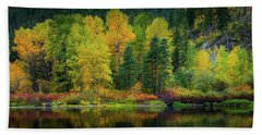 Beach Towel featuring the photograph Picturesque Tumwater Canyon by Dan Mihai