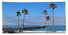Pier And Palms Beach Towel