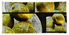 Pieces Of Lime Collage Beach Towel