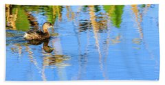 Pied Billed Grebe 2 Beach Towel