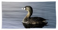 Beach Towel featuring the photograph Pied-billed Grebe by Robert Frederick