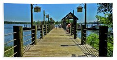 Pier At Fort Wilderness Pm Beach Towel