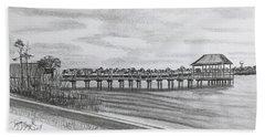 Pier At Goose Creek  Beach Sheet