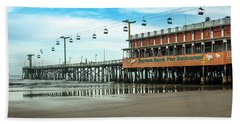 Beach Towel featuring the photograph Pier Daytona Beach by Carolyn Marshall