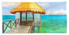 Pier Gazebo At Mayan Palace Beach Towel