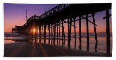 Pier In Purple Beach Towel
