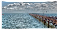 Pier Into The English Channel Beach Towel