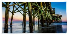 Pier Perspective Beach Towel