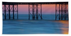 Pier Supports At Sunset I Beach Towel