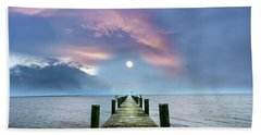 Pier To The Moon Beach Towel