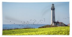 Pigeon Point Light Station Historic Park Beach Towel