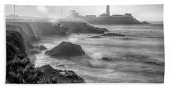 Pigeon Point Rocky Shore Beach Towel