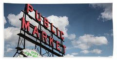 Beach Towel featuring the photograph Pike Place Market by Ed Clark
