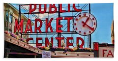 Pike Place Market Beach Sheet by Joan  Minchak