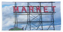 Pike Street Market Beach Towel