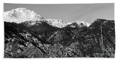 Pikes Peak And Incline 36 By 18 Beach Towel