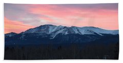 Sunrise Pikes Peak Co Beach Towel