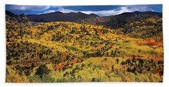 Pikes Peak Autumn Beach Sheet