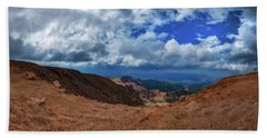 Beach Towel featuring the photograph Pikes Peak Summit Vista #1 by Chris Bordeleau
