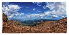 Beach Sheet featuring the photograph Pikes Peak Summit Vista #2 by Chris Bordeleau
