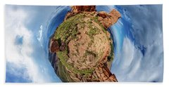 Beach Sheet featuring the photograph Pikes Peak Tiny Planet #1 by Chris Bordeleau