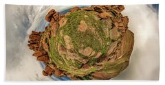 Beach Sheet featuring the photograph Pikes Peak Tiny Planet #2 by Chris Bordeleau