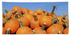 Pile Of Pumpkins Beach Sheet