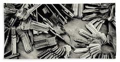 Piles Of Blank Keys In Monochrome Beach Sheet