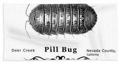 Pill Bug Armadillidium Vulgare Beach Towel