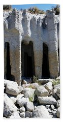 Pillars At Crowley Lake Beach Towel