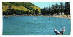 Pilot Bay Beach 5 - Mt Maunganui Tauranga New Zealand Beach Towel