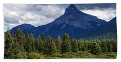 Pilot Mountain, Alberta Beach Sheet by Heather Vopni