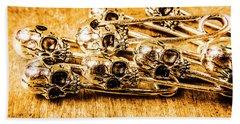 Pin Head Skeleton Art Beach Towel