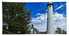 Pine At New Presque Isle Light Beach Sheet