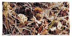Pine Cone Array Beach Towel