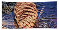Pine Cone Beach Towel